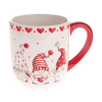 Cană din ceramică Dakls, roșu - alb, pitic bonami.ro