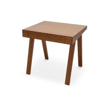 Birou cu picioare din lemn de frasin EMKO, 80 x 70 cm, maro bonami.ro