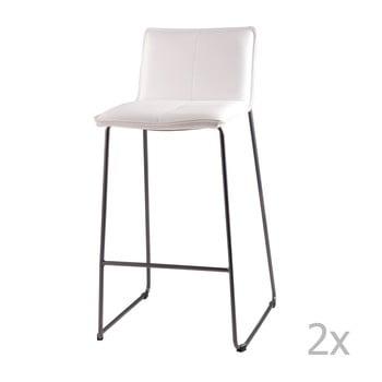 Set 2 scaune de bar sømcasa Lou, alb bonami.ro