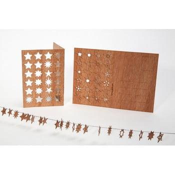 Carte poștală din lemn Formes Berlin s 24 hvězdičkami, 14,8 x 10,5 cm poza bonami.ro