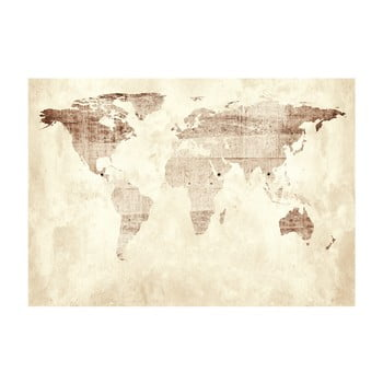 Tapet format mare Bimago Precious Map, 400 x 280 cm poza bonami.ro
