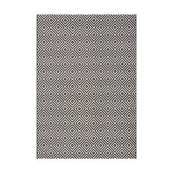 Covor de exterior Bougari Karo, 200 x 290 cm, negru-alb