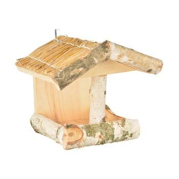 Hrănitor din lemn pentru păsări Esschert Design, înălțime 24,5 cm bonami.ro