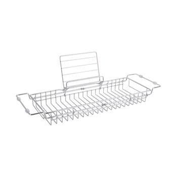 Suport reglabil din metal pentru cadă PT LIVING Tub, 61-86cm, argintiu poza bonami.ro