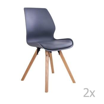Set 2 scaune House Nordic Rana, negru bonami.ro