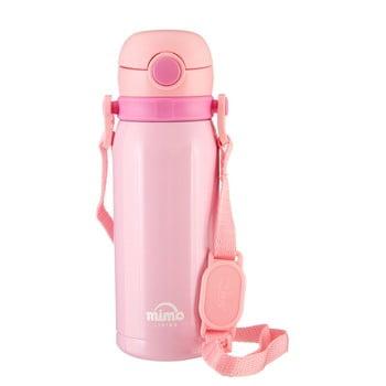 Sticlă termos Premier Housewares Mimo Kids, 450 ml, roz poza bonami.ro