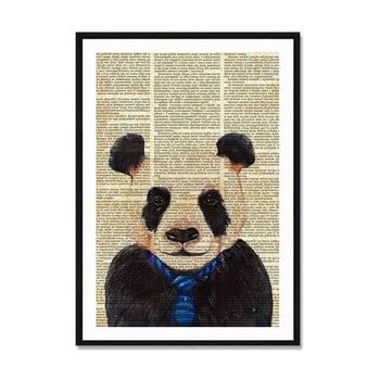 Tablou/poster înrămat Really Nice Things Newspaper Panda, 40x60cm poza bonami.ro