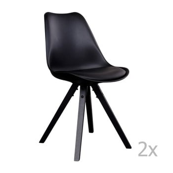 Set 2 scaune House Nordic Bergen, negru imagine