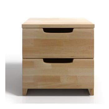 Noptieră din lemn de fag cu 2 sertare SKANDICA Spectrum bonami.ro