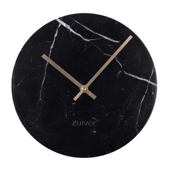 Ceas de perete din marmură Zuiver Marble Time, negru poza bonami.ro