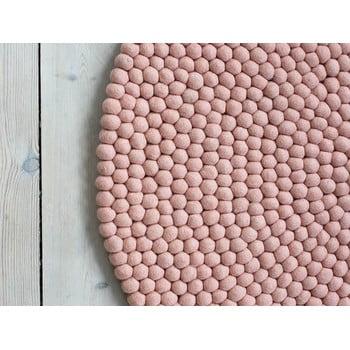 Covor cu bile din lână Wooldot Ball Rugs, ⌀ 120 cm, roșu pastelat imagine