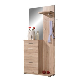 Dulap cu oglindă și cuier Germania Telde, 91 x 200 cm imagine
