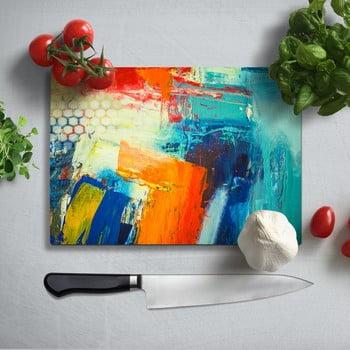 Tocător din sticlă securizată Insigne Friga, 35 x 25 cm, multicolor bonami.ro