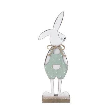 Decorațiune pe suport în formă de iepure Ego Dekor, 25,5 x 9 x 4 cm, alb - verde poza bonami.ro