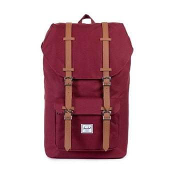 Rucsac Herschel Little America, roșu-maro, 25 l imagine