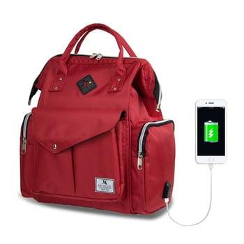 Rucsac maternitate cu port USB My Valice HAPPY MOM Baby Care Backpack, roșu bonami.ro