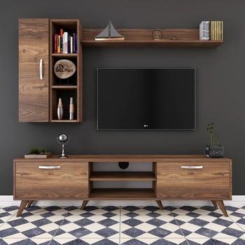 Set comodă TV și rafturi și dulap de perete Wren, natural bonami.ro