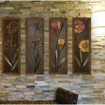 Tablou din 4 piese Dark Flower imagine