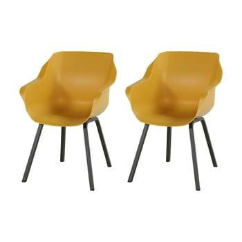 Set 2 scaune de grădină Hartman Sophie, galben muștar imagine
