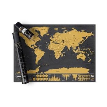 Harta lumii răzuibilă Ambiance Travelling bonami.ro