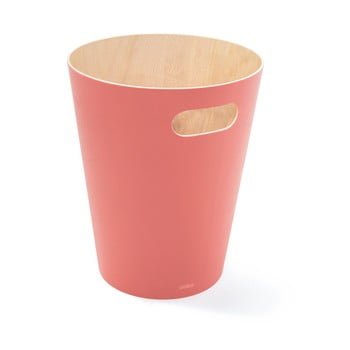 Coș de gunoi Umbra Woodrow, 7,5 l, roz poza bonami.ro