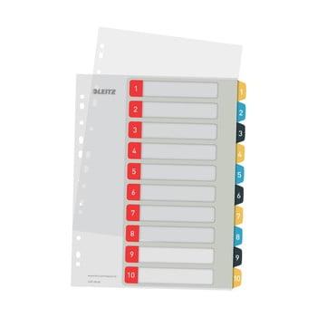 Set 5 registre numerice cu 10 etichete Leitz, A4 bonami.ro