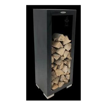 Cutie din oțel pentru depozitarea lemnelor Remundi, lățime 50 cm, negru bonami.ro