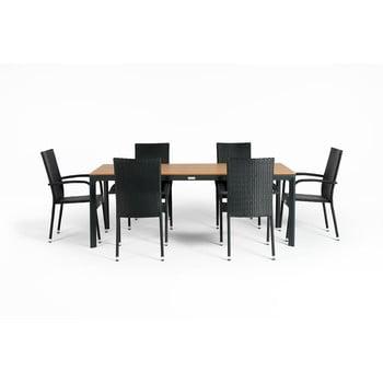 Set mobilier de gradina pentru 4 persoane Le Bonom Paris Thor, gri