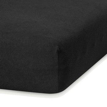 Cearceaf elastic AmeliaHome Ruby, 200 x 120-140 cm, negru bonami.ro