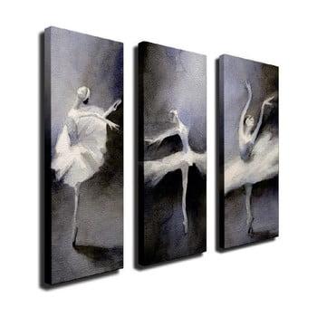 Tablou pe pânză din 3 piese Ballet bonami.ro