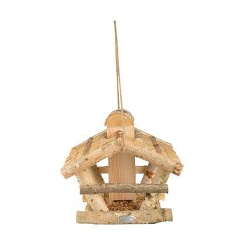 Hrănitor lemn pentru păsări Esschert Design, înălțime 27,5 cm bonami.ro