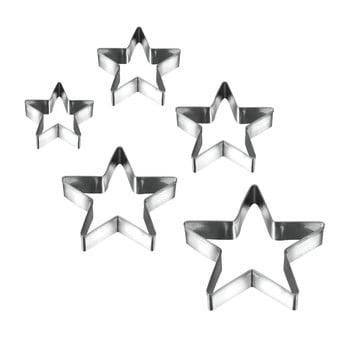 Set 5 forme pentru prăjituri în formă de stea Metaltex Cookie Cutters poza bonami.ro