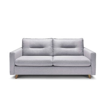 Canapea extensibilă Bobochic Paris Sinki, gri deschis poza bonami.ro