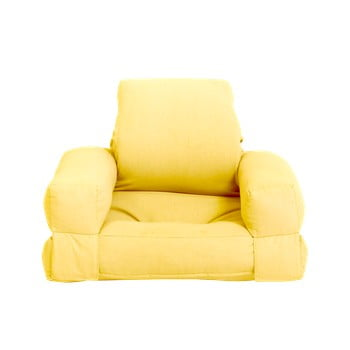 Fotoliu extensibil pentru copii Karup Design Mini Hippo Yellow poza bonami.ro