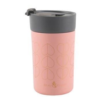 Cană termos Navigate Hearts, 300 ml, roz bonami.ro