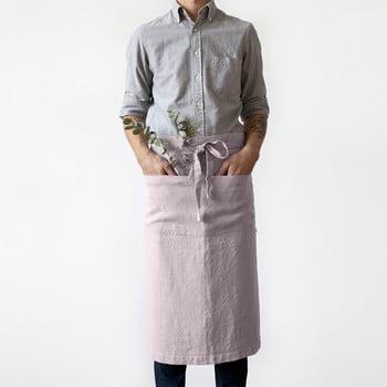 Șorț din in Linen Tales Garcon, lungime 76cm, roz deschis bonami.ro