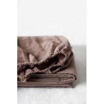 Cearșaf elastic din in Linen Tales, 90 x 200 cm, violet purpuriu bonami.ro