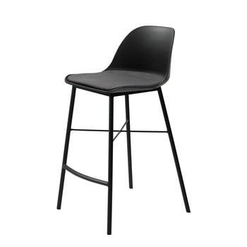 Scaun bar Unique Furniture Whistler, negru-gri bonami.ro