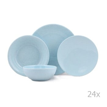 Set 24 piese de veselă din porțelan Kutahya Fantine, albastru imagine