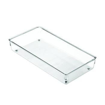 Organizator transparent pentru bucătărie iDesign Linus, 30,5x15cm bonami.ro