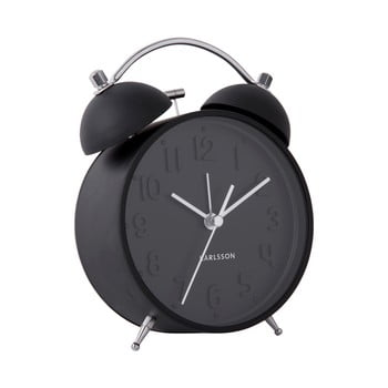 Ceas deșteptător Karlsson Iconic, ø 11 cm, negru bonami.ro