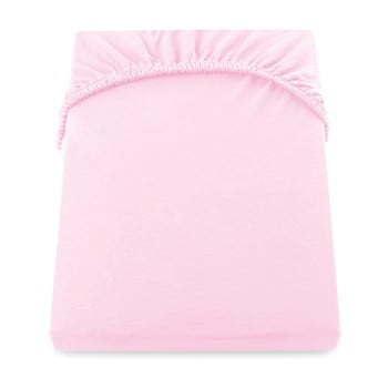 Cearșaf de pat cu elastic DecoKing Nephrite, 140–160 cm, roz poza bonami.ro