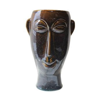 Vază din porțelan PT LIVING Mask, înălțime 27,2 cm, maro închis bonami.ro
