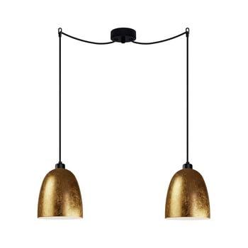 Corp de iluminat suspendat dublu Sotto Luce AWA Elementary 2S, auriu/negru/negru imagine