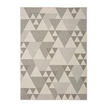 Covor pentru exterior Universal Clhoe Triangles, 140 x 200 cm, bej-gri poza bonami.ro