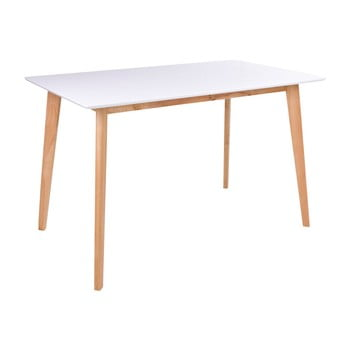 Masă dining loomi.design Vojens, 120 x 70 cm, alb-natural imagine