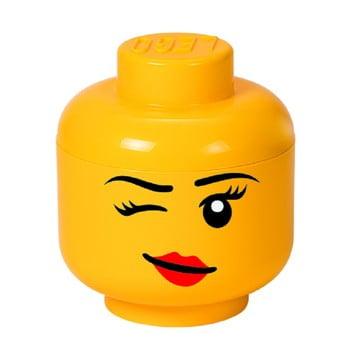 Cutie depozitare LEGO® Winky S, galben, ⌀ 16,3 cm bonami.ro