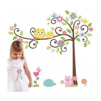 Autocolant Ambiance Tree and Owl poza bonami.ro