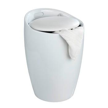Coș de rufe /taburet Wenko Candy, 20 l, alb poza bonami.ro