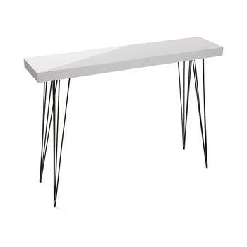 Masă din lemn Versa Dallas, 110 x 25 cm, alb bonami.ro